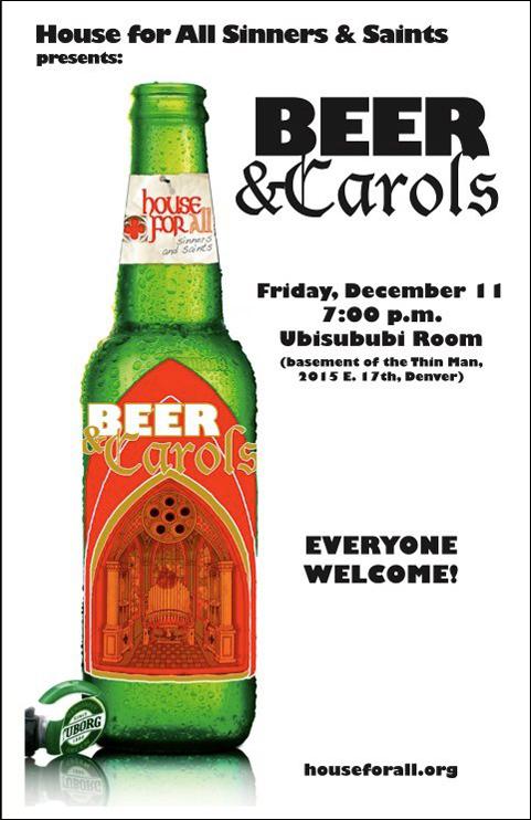 Beer & Carols poster