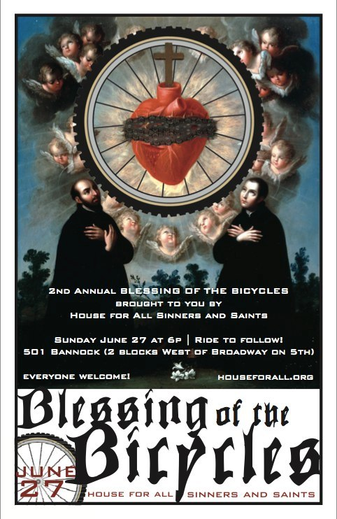 1st Blessing of the Bicycles poster