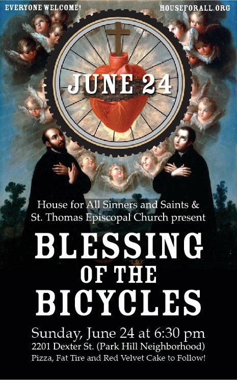 Most common version of Blessing of the Bicycles poster.