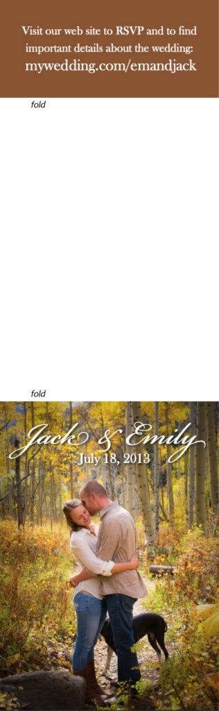 Jack & Emily Wedding Invite outer