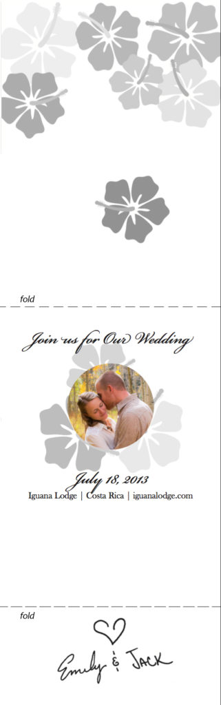 Jack & Emily Wedding Invite inner
