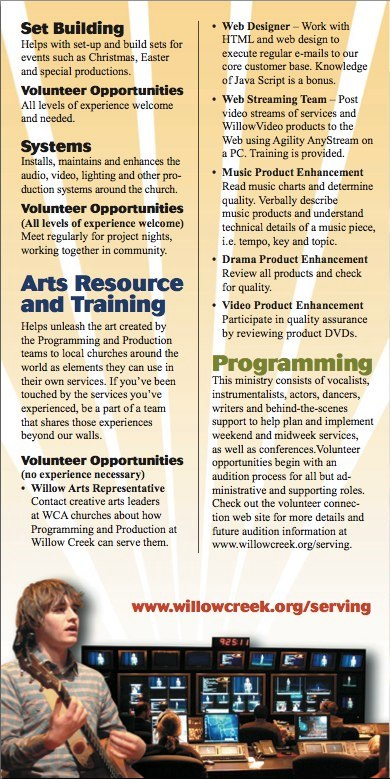 Volunteer Brochure Back
