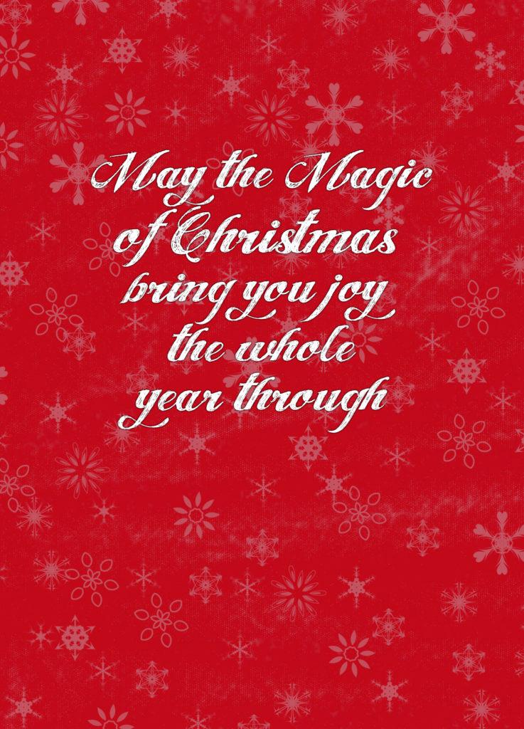 Christmas Postcard back